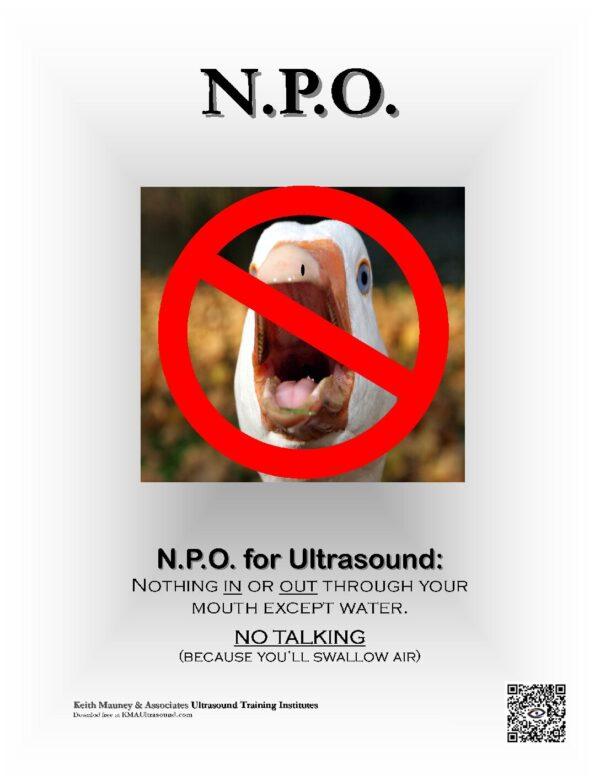 NPO for Ultrasound Exam Preparation